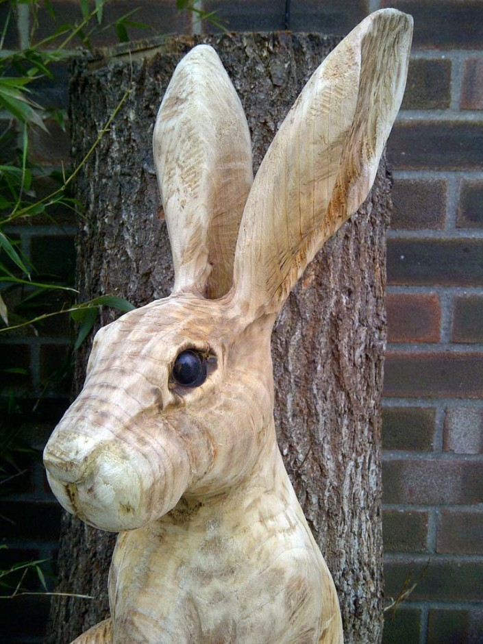 Chainsaw carved sculptures gallery bears fawns hares